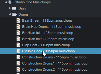 Studio One Musicloops
