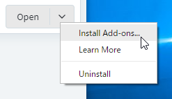 Install Add-ons...
